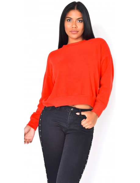 Very Soft Jumper with Bow at the back