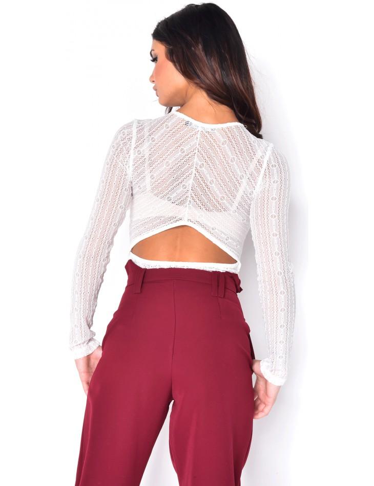 Low-Cut Lace Bodysuit