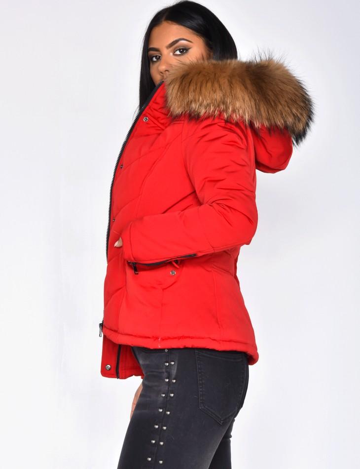 Real Fur Padded Jacket