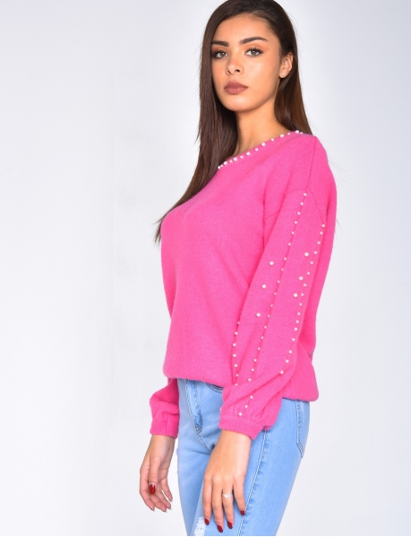 Pearl Jumper with Low-Cut Back