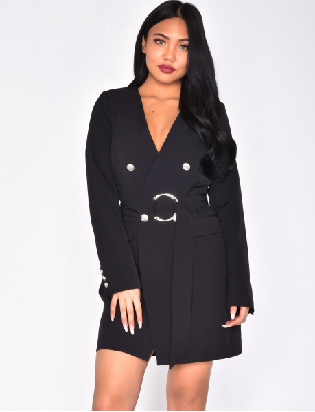 Long Jacket with Officer Buttons