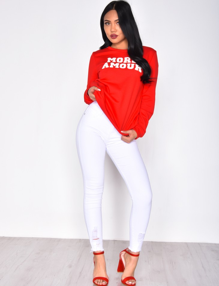 'more amour' Jumper