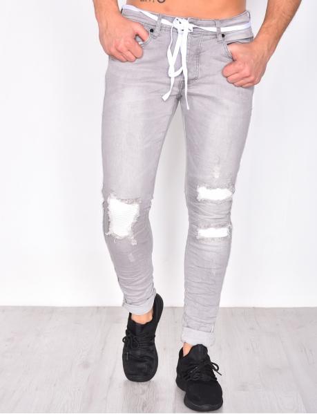 Jeans destroy et délavé
