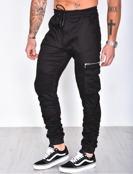 Pantalon à empiècements contrastants