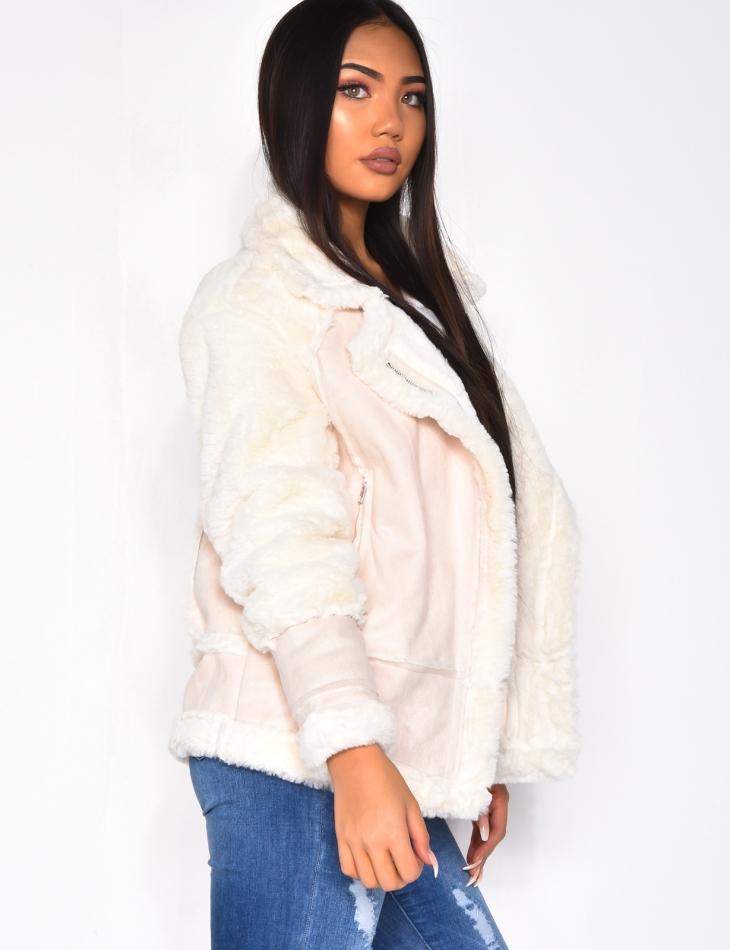 Suedette Faux Fur Jacket