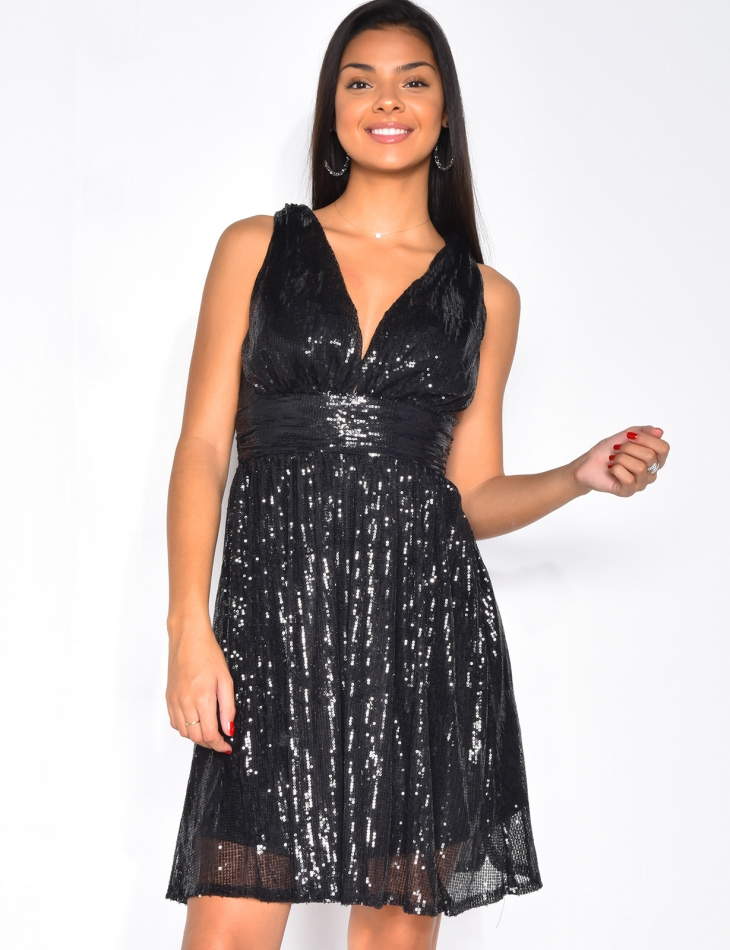 Robe patineuse à sequins
