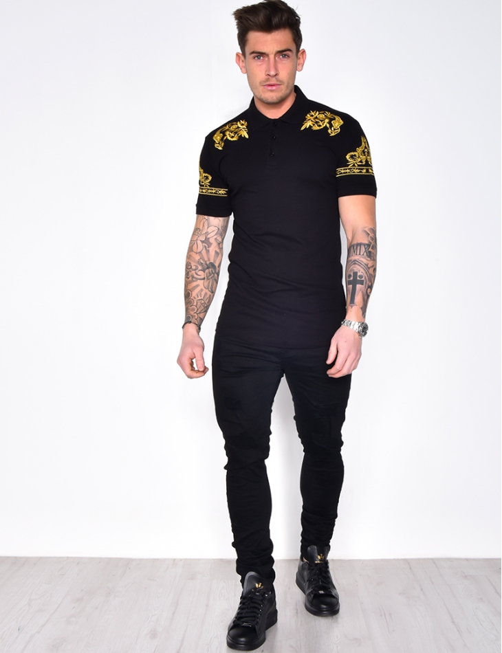 Polo Shirt with Embroidery