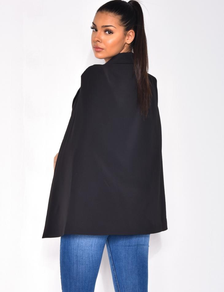 Blazer cape à ceinture