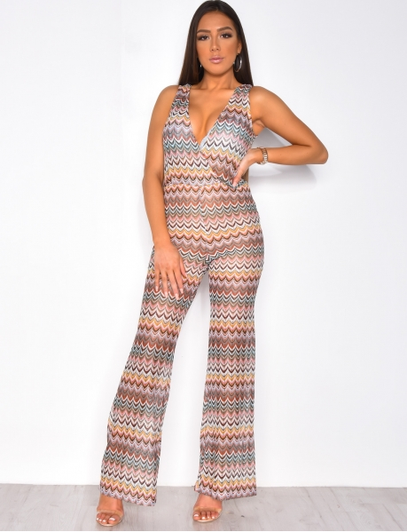 Multi-coloured Transparent Jumpsuit