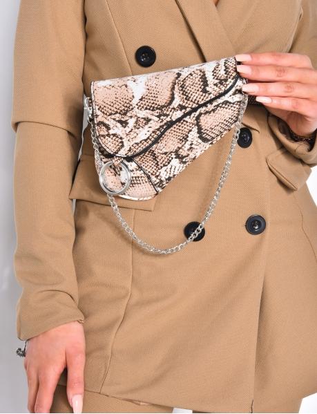 Am Gürtel getragene Handtasche mit Kette