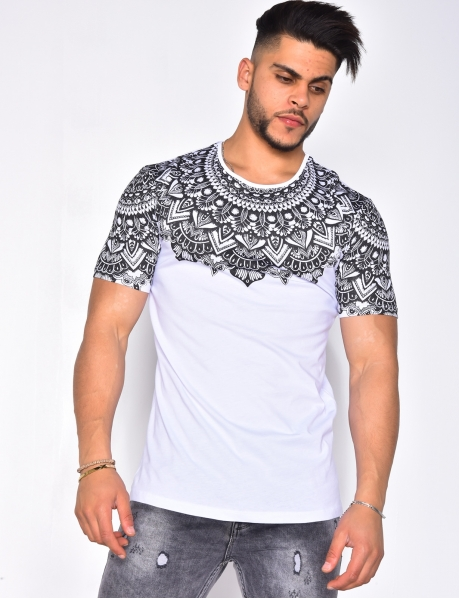 T-shirt with Ethnic Pattern