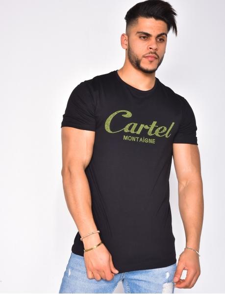 """T-shirt à strass """"Cartel Montaigne"""""""