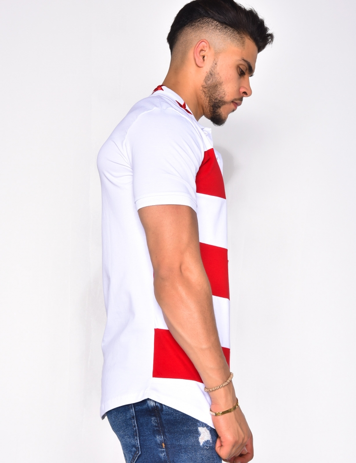 Polo Shirt with Stripes