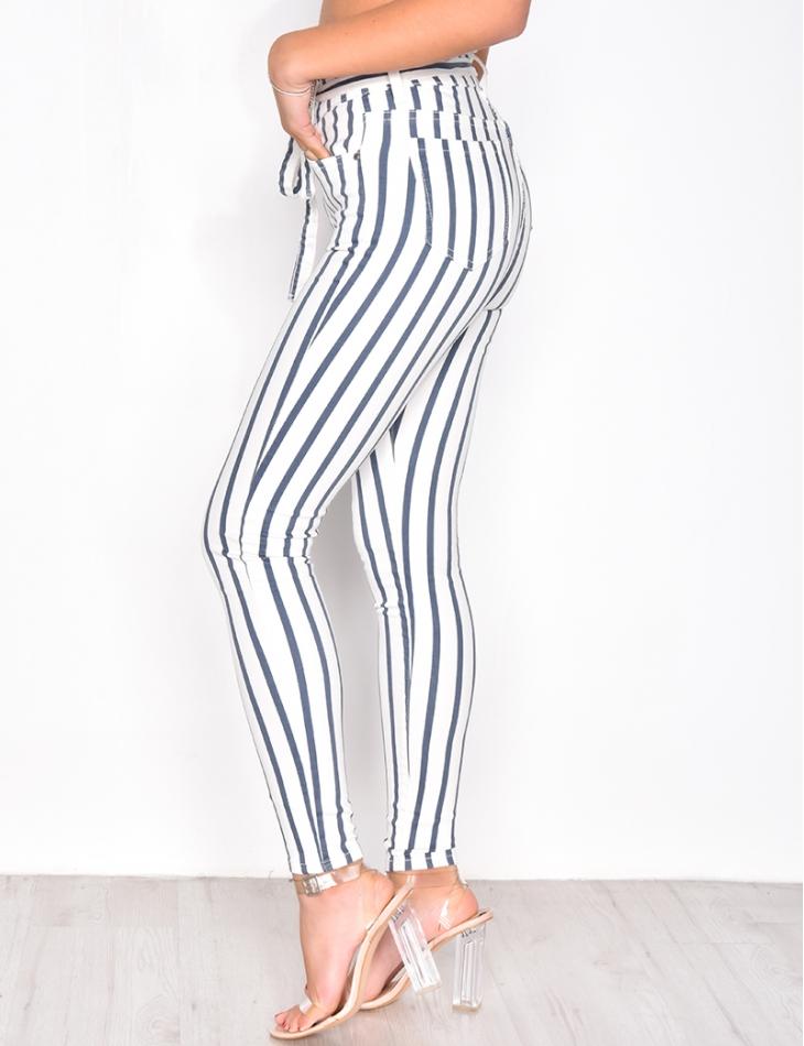 Striped Tie Jeans