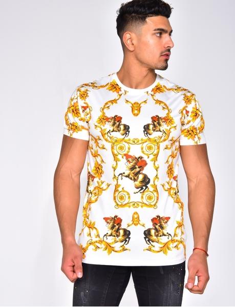 T-shirt à motif baroque
