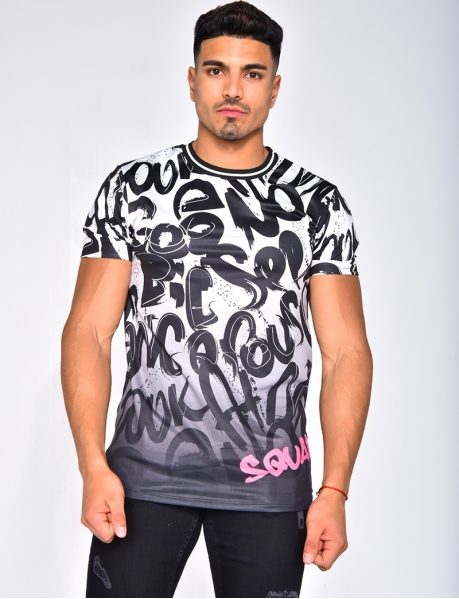 T-shirt à graffiti