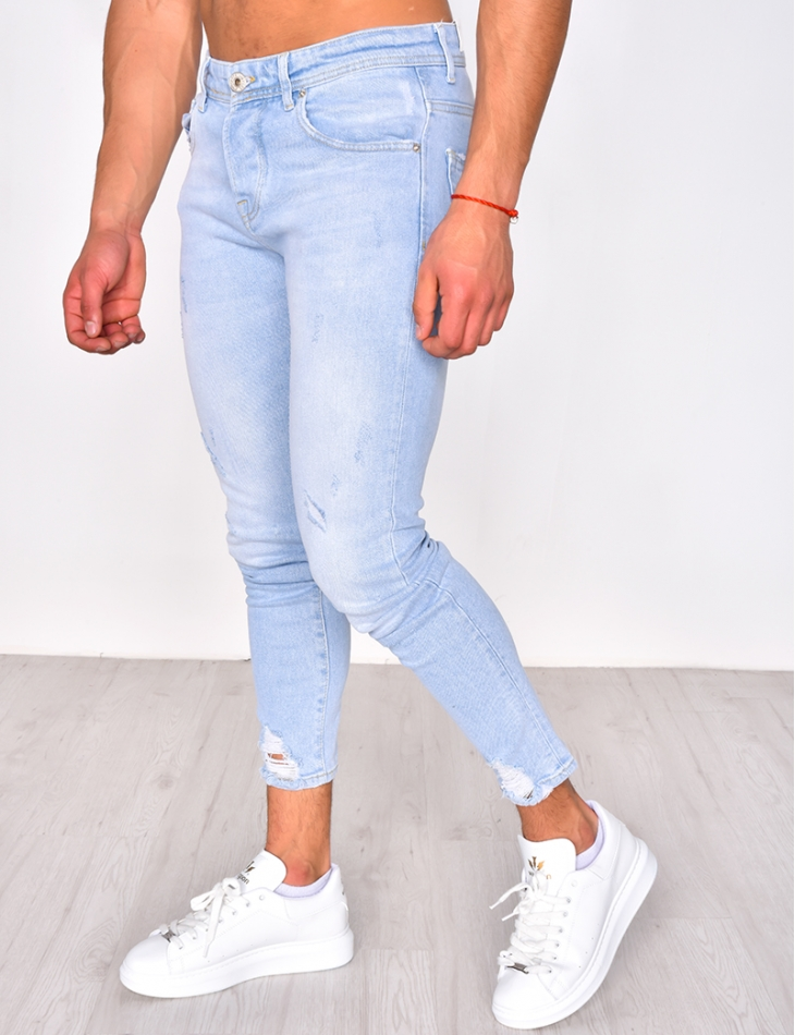 Ripped light jeans