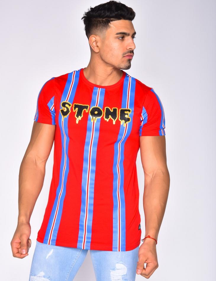 """T-shirt """"STONE"""" à bandes"""