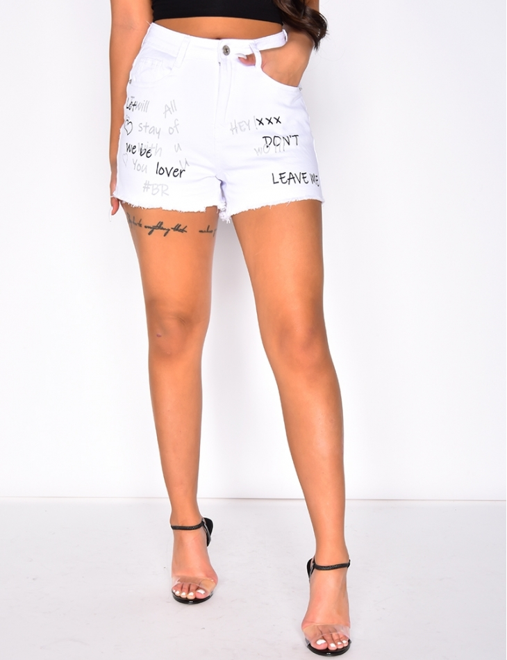 Shorts with Graffiti
