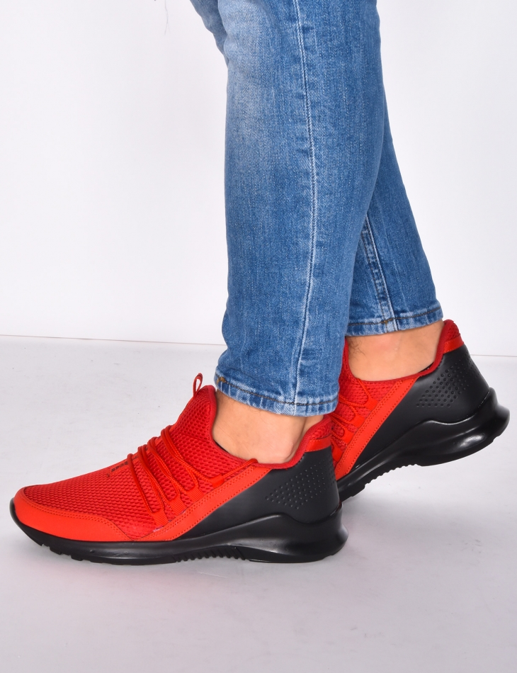 Fabric and PU Leather Trainers