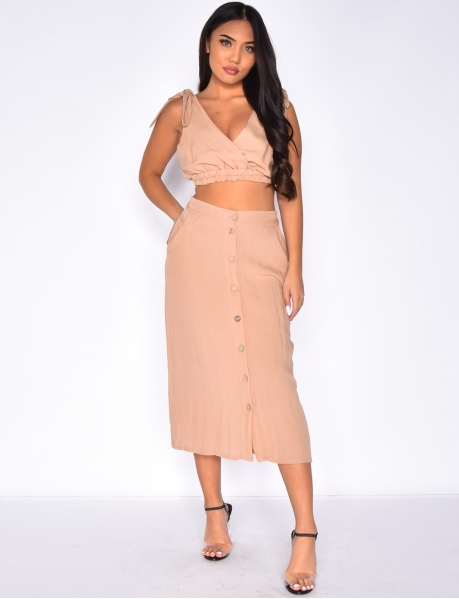 Skirt and Crop Top Co-ord