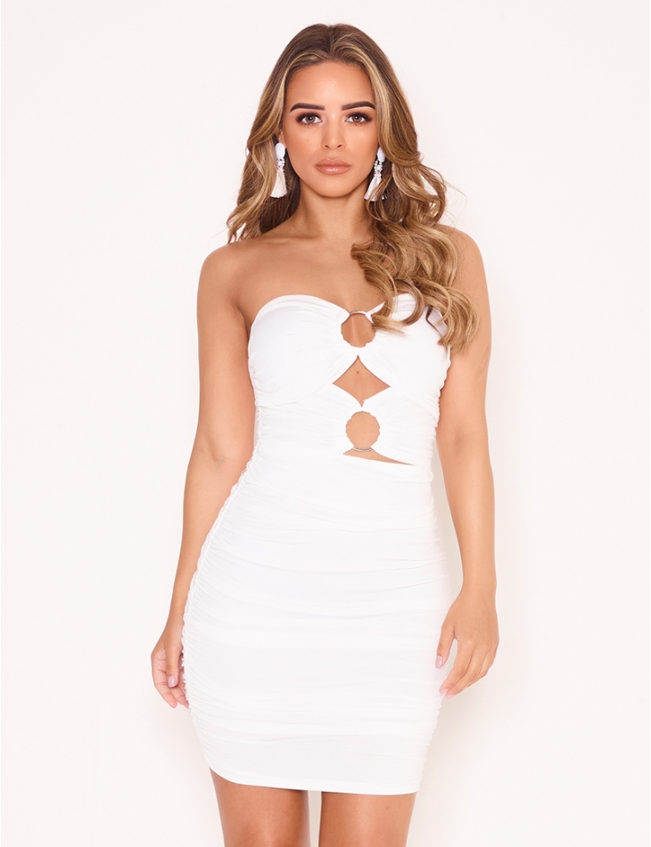 Openwork Bodycon Dress with Rings