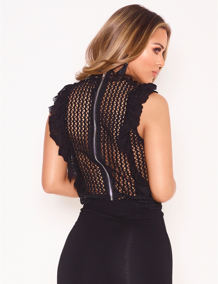 Top with Embroidery and Lace