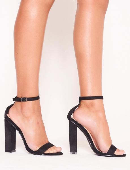 Sandales à talon en suédine