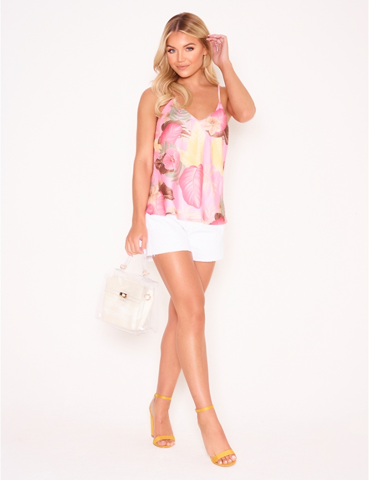 Camisole with Tropical Pattern
