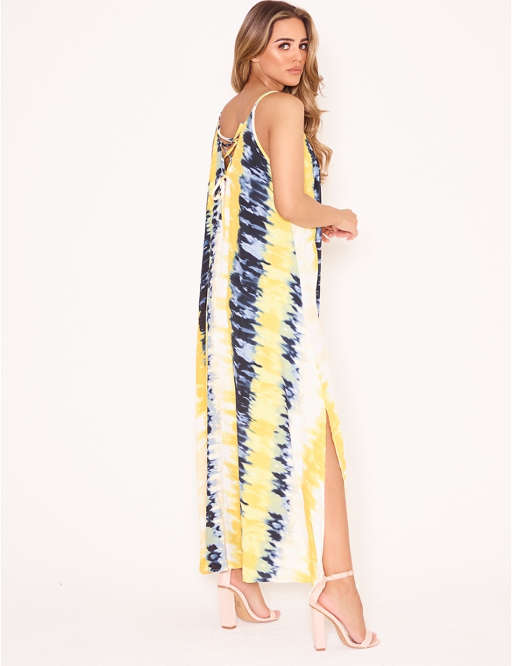 Long Loose Fit Dress with Lacing at the Back