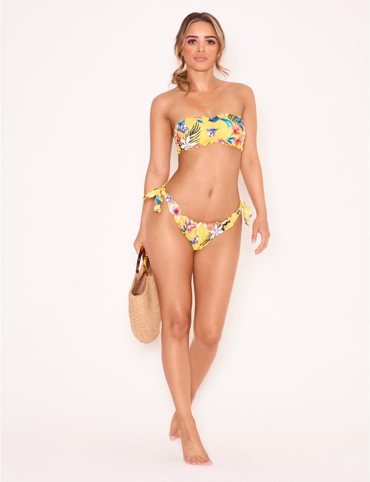 Bikini à motifs tropicaux