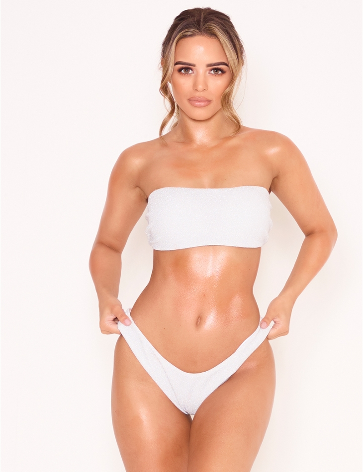 High Waisted Lurex Bikini