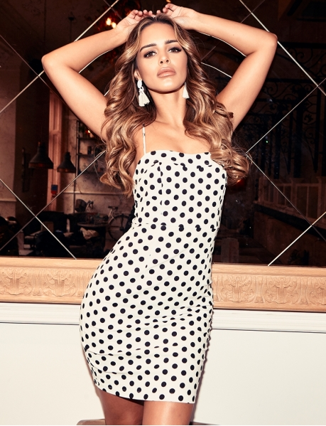 Bodycon Dress with Polka Dots
