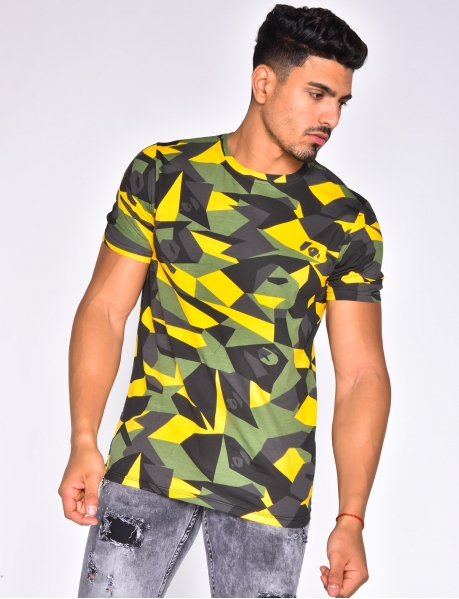 T-shirt with geometrical pattern