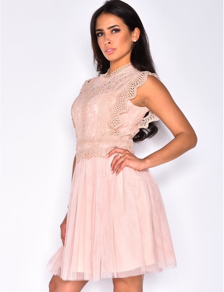 Tulle and Embroidered Dress
