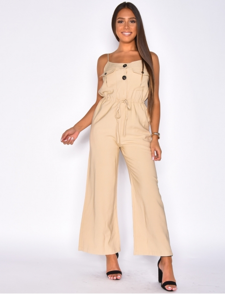 Loose Fit Tie Jumpsuit