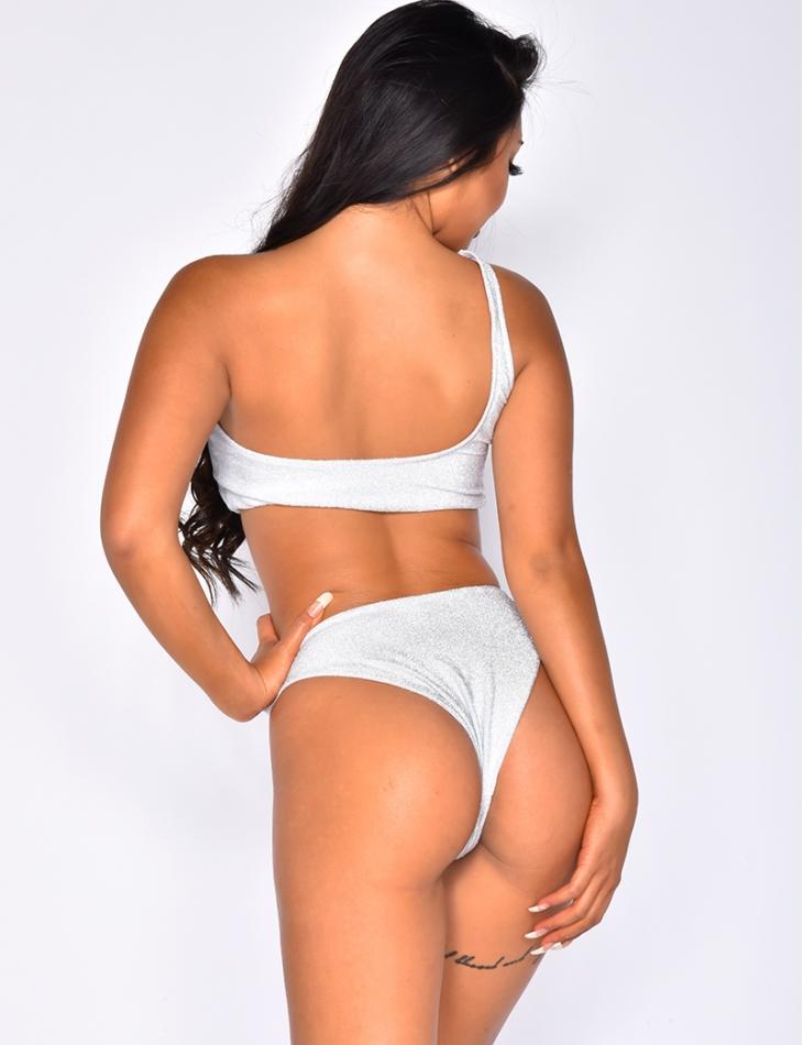 Asymmetric Lurex Bikini