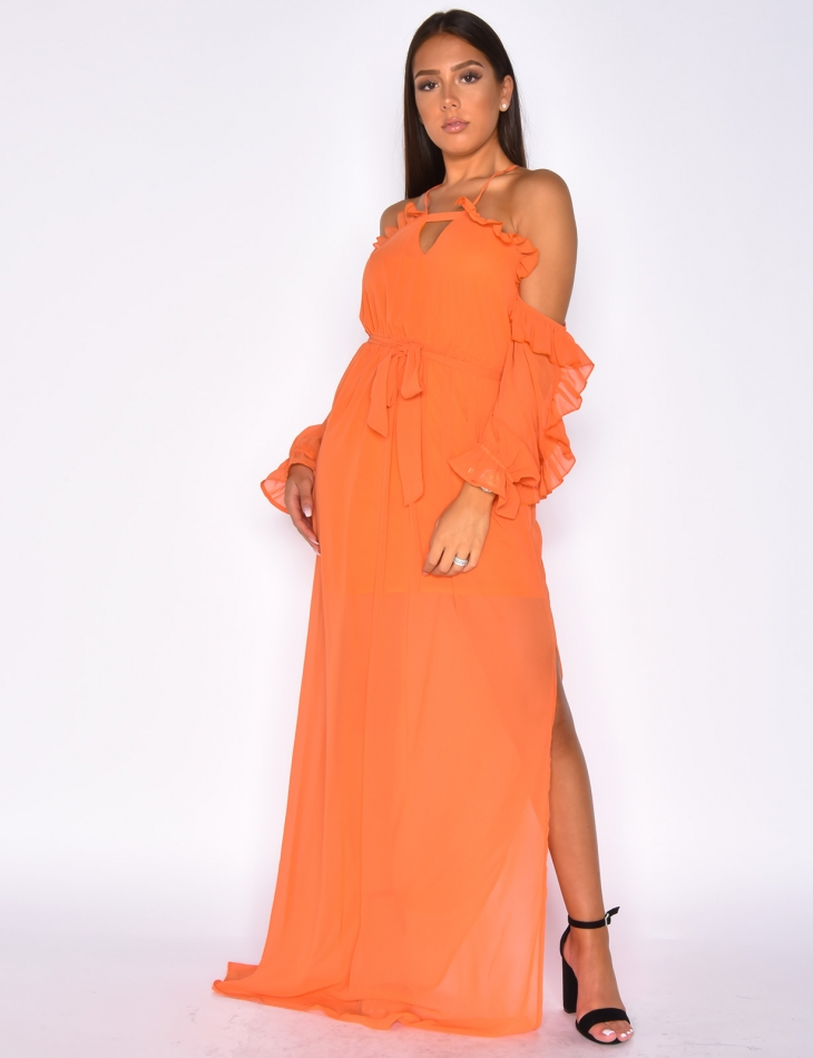 Robe Longue A Voile Jeans Industry