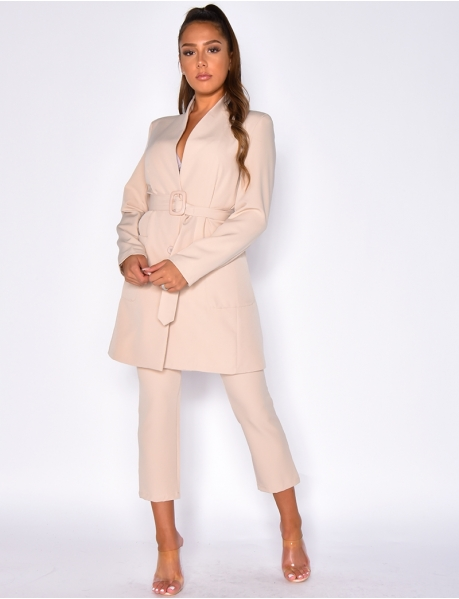 Fitted Jacket and High Waisted Trousers Co-ord