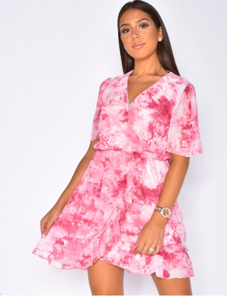 Faded Ruffle Dress