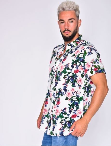Shirt with Flower Pattern