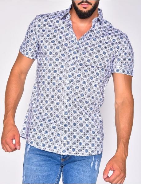 Chemise à motif fleurs