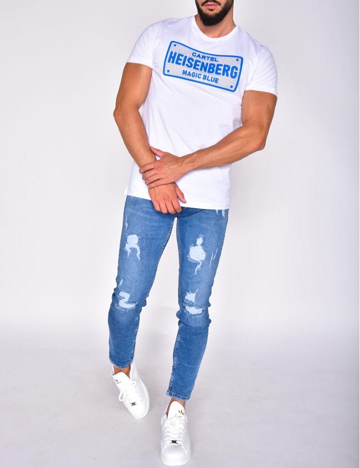 Cartel T-shirt with Rhinestones