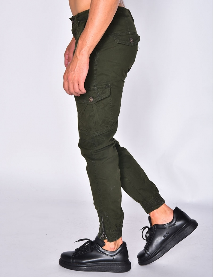 Joggers with Pockets and Zips