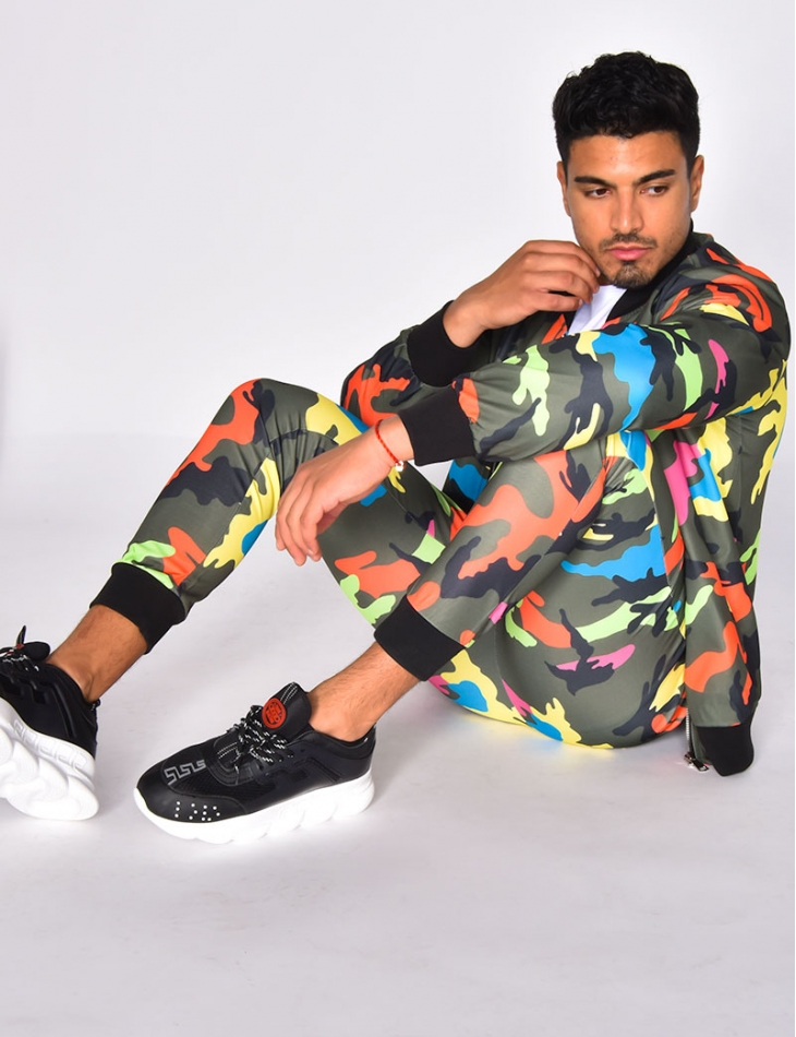 Multi-coloured Camouflage Trousers