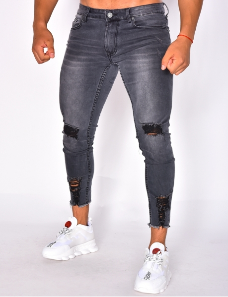 Jeans destroy, cropped