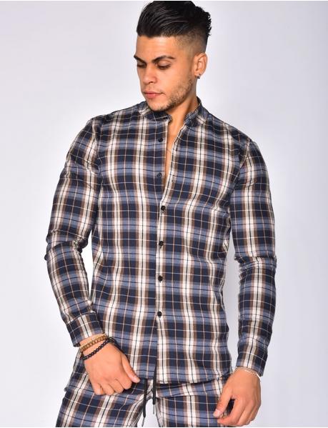 Chemises manches longues à carreaux