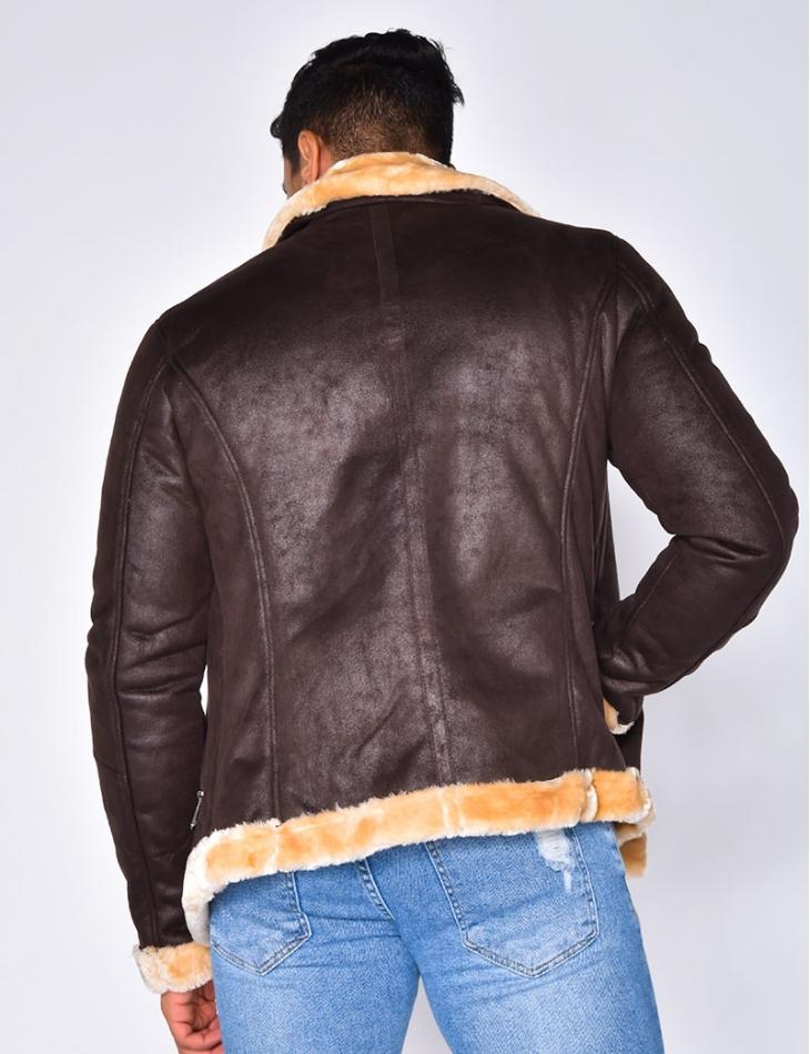 Sheepskin Style Jacket