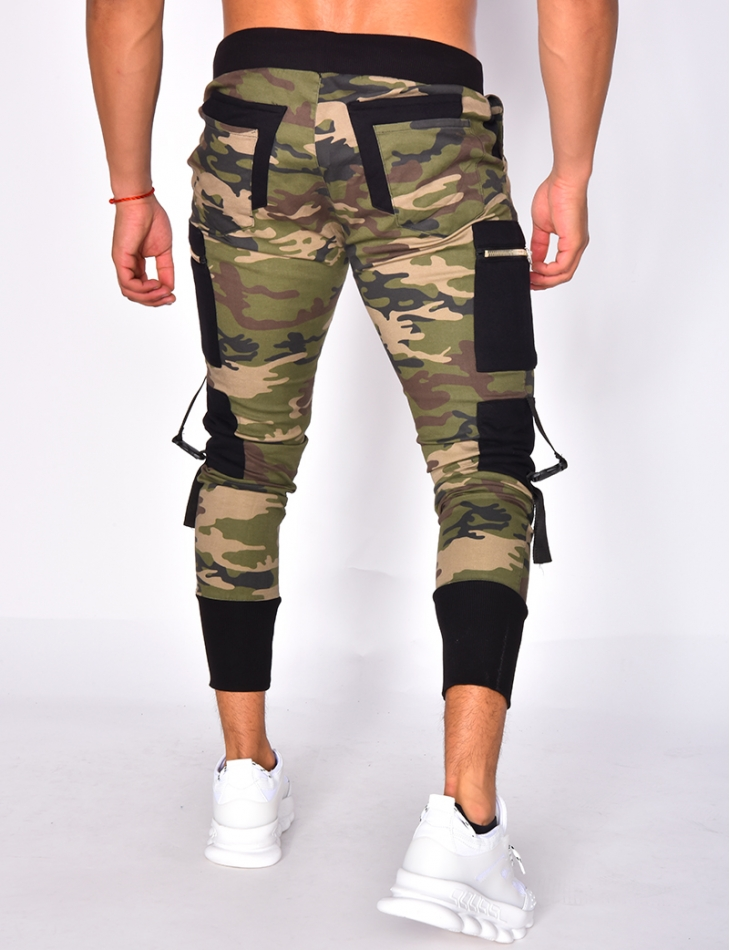 Camouflage Trousers with Pockets