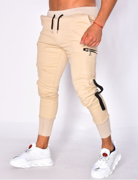 Trousers with Zipped Pockets